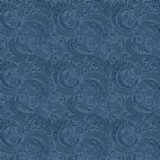 Lewis & Irene Island Girl - 5312 - Traditional Polynesian Scroll in Dark Blue - A194.3 - Cotton Fabric